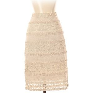 [a28-3] Maurices | midi crochet lace skirt